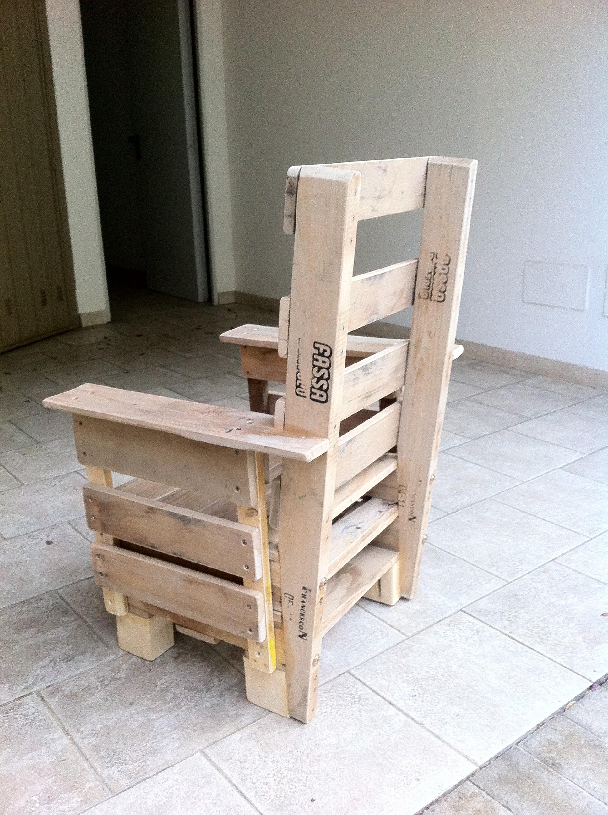 Come costruire una sedia da giardino con i pallet idea for Case da costruire