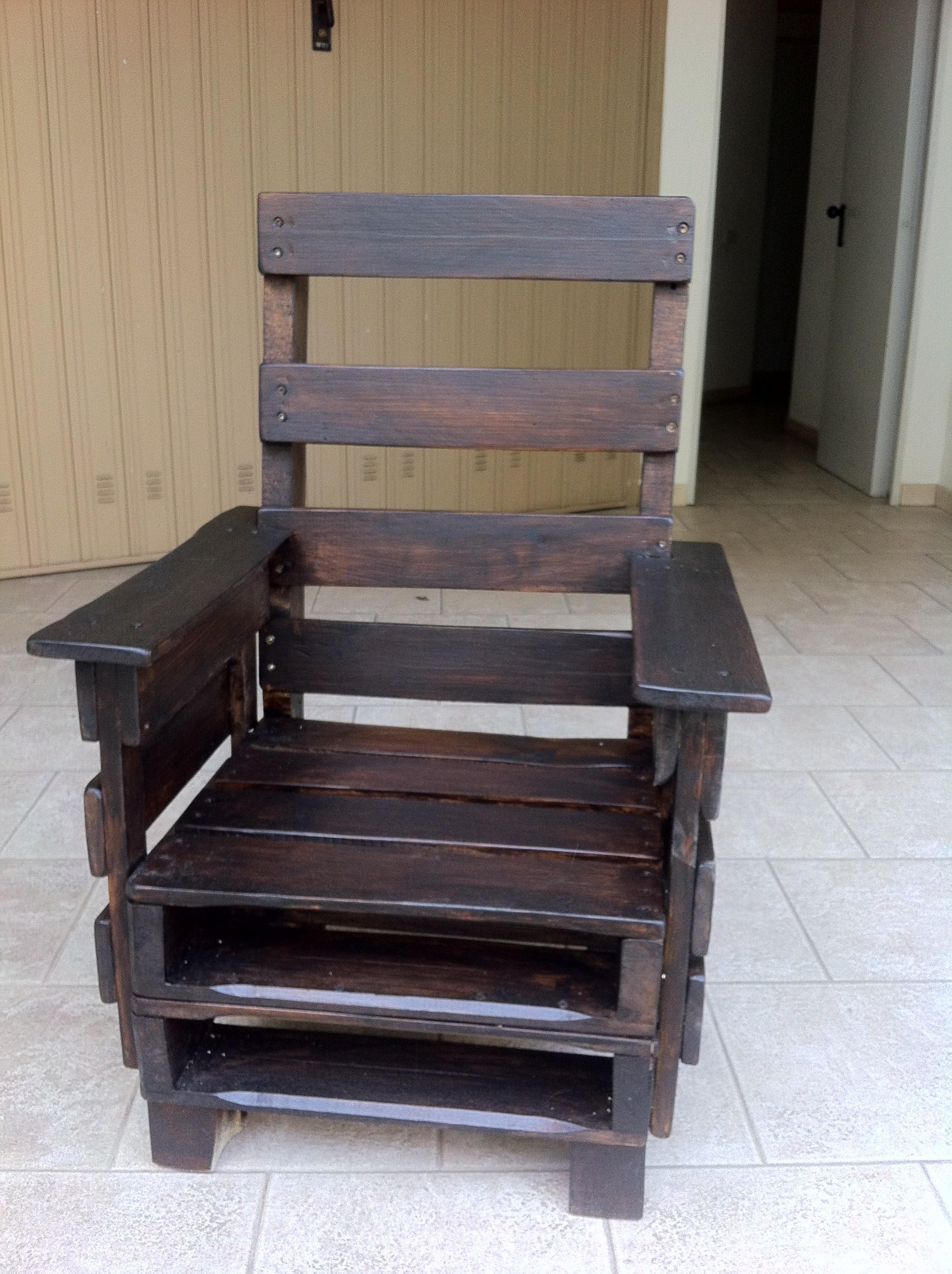 Poltrona da esterno realizzata con bancali blog di deni - Mobili con bancali di legno ...