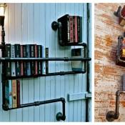 Realizzare una libreria con tubi idraulici