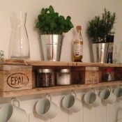 Mensole per cucina con pallet riciclato | Blog di Deni Niagara