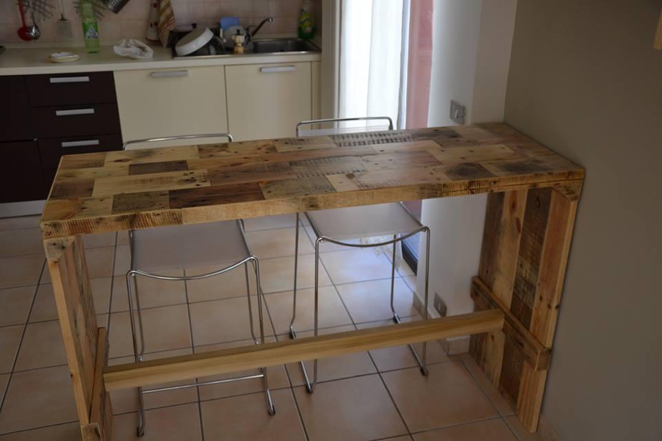 Da pranzo pareti disegno sala - Mobili con bancali di legno ...