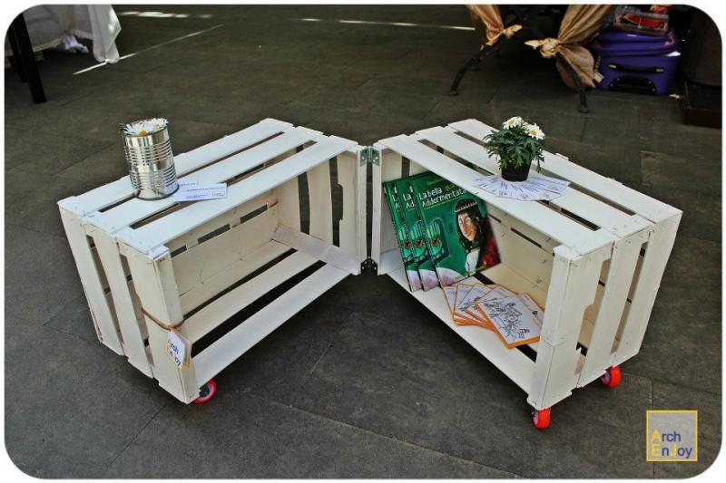Super Tavolino da caffè con cassette di frutta DD81