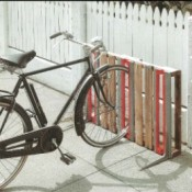 Bike Rack realizzata con pallet