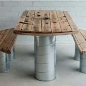 Tavolo con sedie | con Bobine per cavi