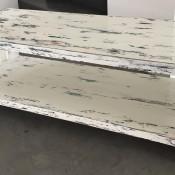 Tavolo porta TV – realizzato con tavole di PALLET e tecnica Shabby Chic – Industrial