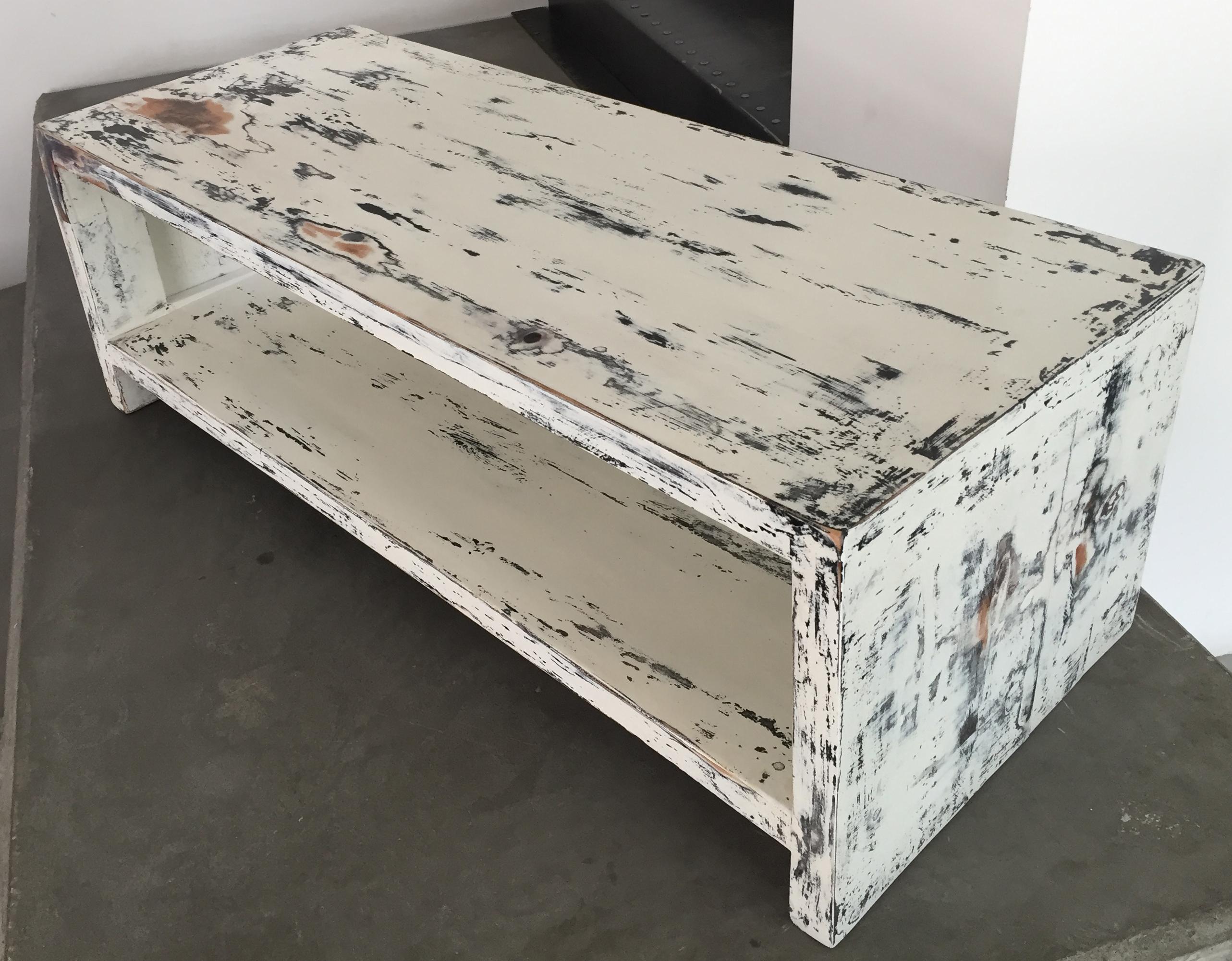 Popolare Tavolo porta TV - realizzato con tavole di PALLET e tecnica Shabby  EQ75